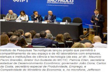 Empresas poderão instalar centros de pesquisa e desenvolvimento no IPT