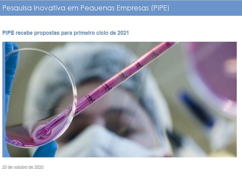 PIPE recebe propostas para primeiro ciclo de 2021
