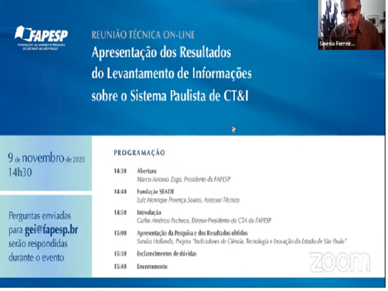 FAPESP apresenta resultados de levantamento sobre o Sistema Paulista de CT&I
