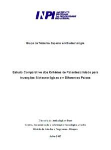 Estudo comparativo de patentes-INPI