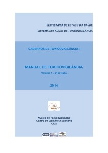 CD- Caderno de Toxicovigilância I jpg