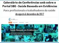 Calendário de Conferências Web sobre o Portal SBE – Saúde Baseada em Evidências