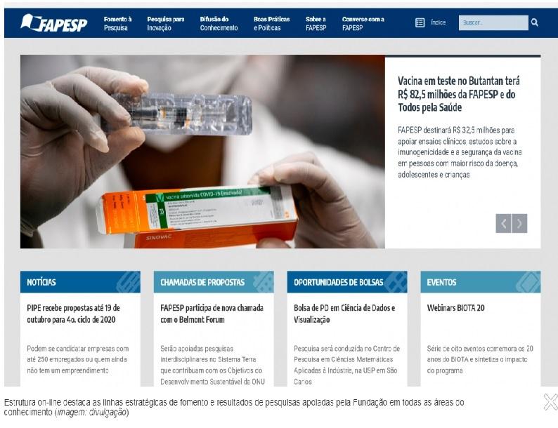 FAPESP lança novo portal