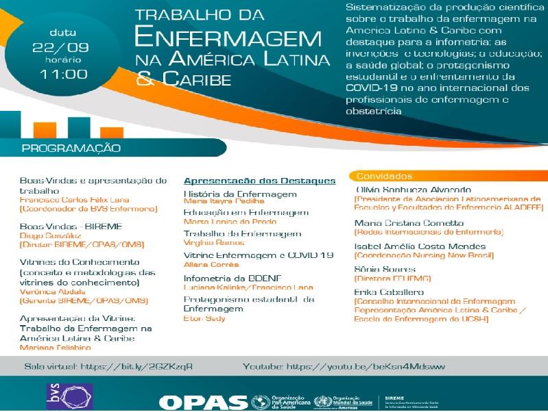 """Lançamento da Vitrine do Conhecimento """"Trabalho da Enfermagem na América Latina & Caribe"""""""