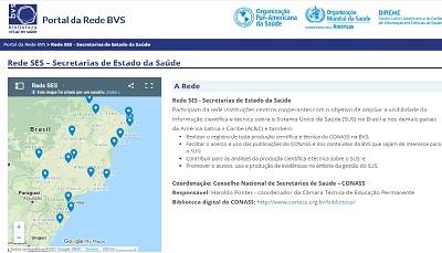 Projeto Conass/Bireme Rede SES – Secretarias de Estado da Saúde