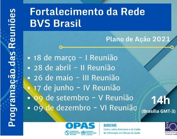 BVS RIC participa das ações de fortalecimento da Rede BVS Brasil 2021