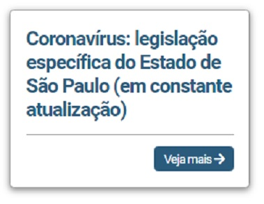 Covid-19: legislação específica do Estado de São Paulo