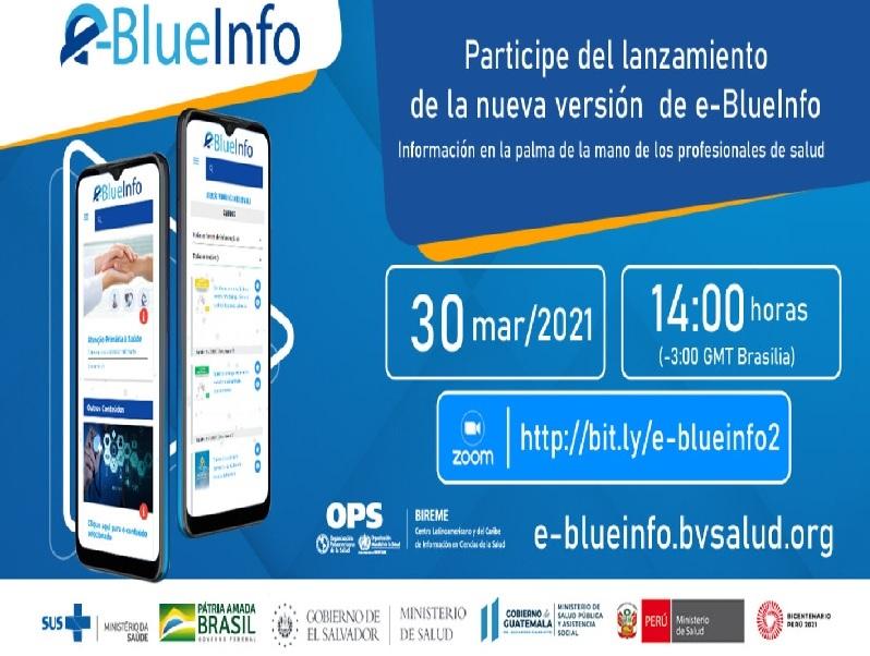 BIREME/EIH lança nova versão do e-BlueInfo: aplicativo de informação em saúde