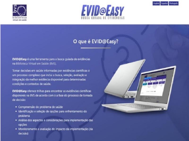 Bireme/OPAS/OMS disponibiliza Evid@Easy: uma ferramenta inovadora para selecionar evidências científicas na BVS