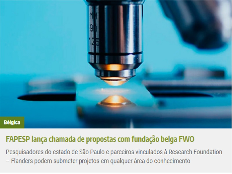 FAPESP lança página com chamadas de propostas para pesquisa em colaboração