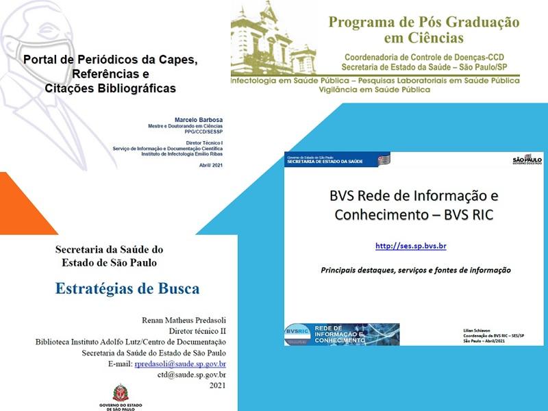 Membros cooperantes da BVS Rede de Informação e Conhecimento ministram aulas para o PPG em Ciências da SES/SP