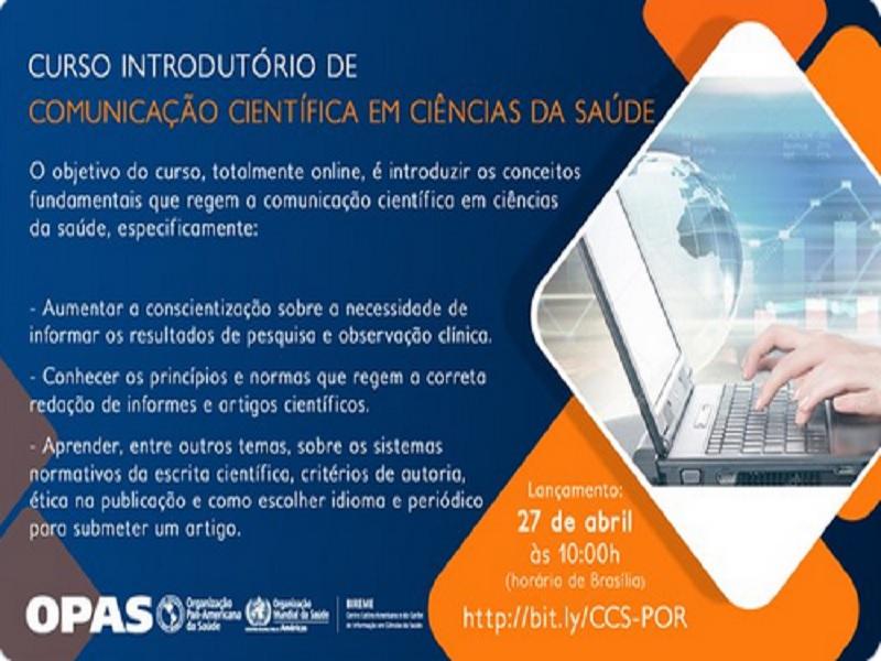 Curso Introdutório de Comunicação Científica em Ciências da Saúde – 2021