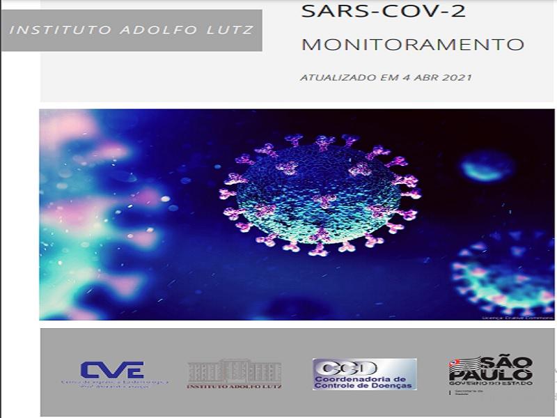 """Instituto Adolfo Lutz publica """"Monitoramento das linhagens do SARS-CoV-2 nas Regiões de Saúde do Estado de São Paulo"""""""