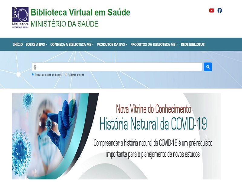 BVS do Ministério da Saúde lança Vitrine do Conhecimento sobre a História Natural da Covid-19