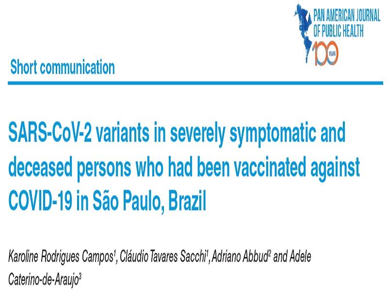 Trabalho realizado no Instituto Adolfo Lutz comprova a importância da administração da dose de reforço da vacina para COVID-19 em idosos e profissionais da área da saúde